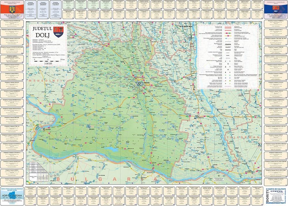 Harta Judetului Cu Primarii Dolj Stiefel Romania