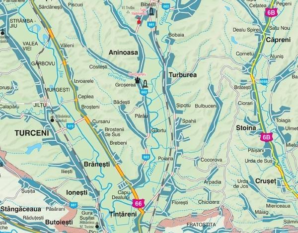 Harta Judetului Gorj 100x70 Cm Sipci Plastic Stiefel Romania