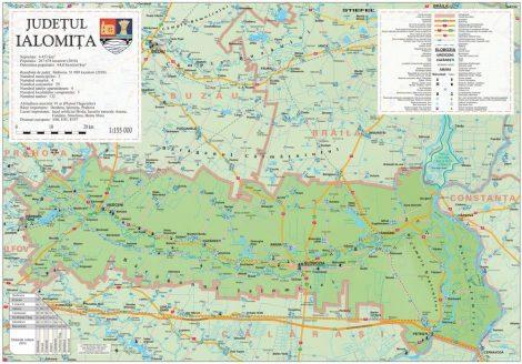 Harta Judetului Ialomita 100x70 cm sipci plastic