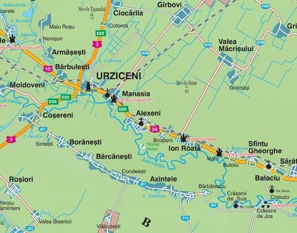 Harta Judetului Ialomita 100x70 Cm Sipci Plastic Stiefel Romania