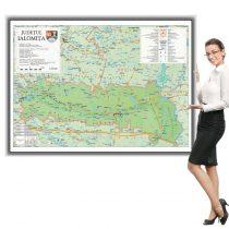 Harta Ialomița în ramă de aluminiu