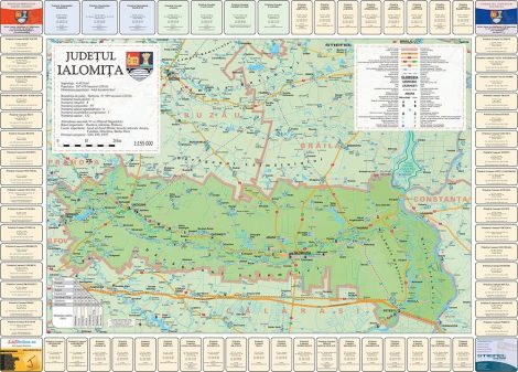 Harta Judetului cu primarii Ialomita