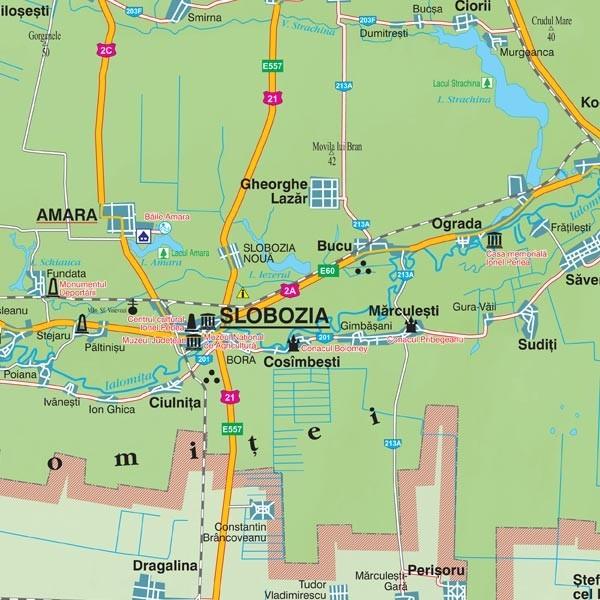 Harta Judeţului Ialomita