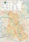 Harta județului Harghita, șipci plastic