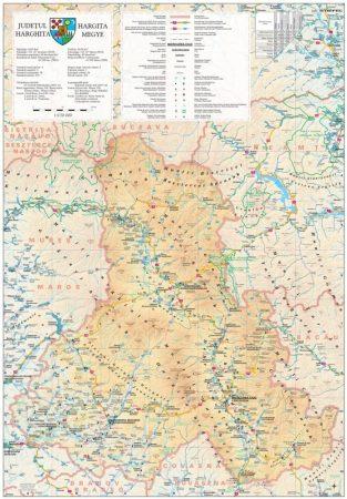 Harta Judetului Harghita 70x100 cm sipci plastic