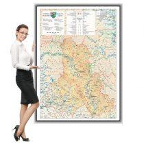 Harta Harghita in rama de aluminiu