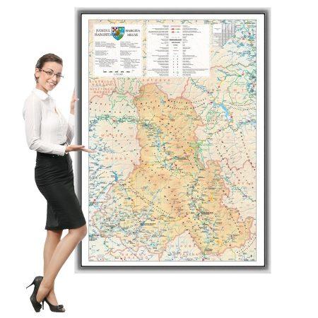 Harta județului Harghita în ramă de aluminiu