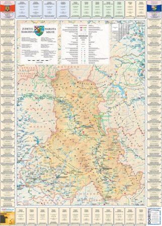 Harta județului Harghita cu primării