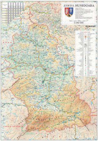 Harta județului Hunedoara, șipci plastic