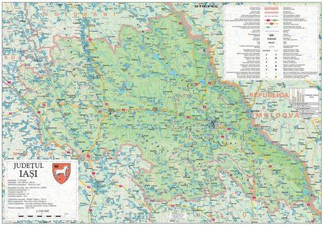 Harta județului Iași, șipci plastic