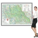 Harta județului Iași în ramă de aluminiu