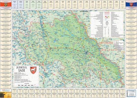 Harta Judetului cu primarii Iasi