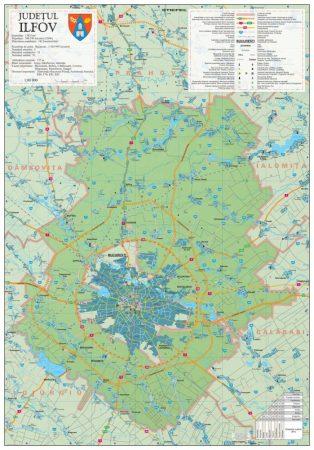 Harta județului Ilfov, șipci plastic
