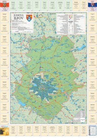 Harta Judetului cu primarii Ilfov