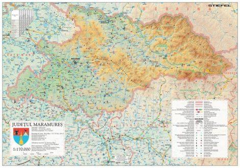 Harta județului Maramureș, șipci plastic