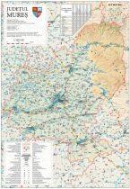 Harta județului Mureș, șipci plastic