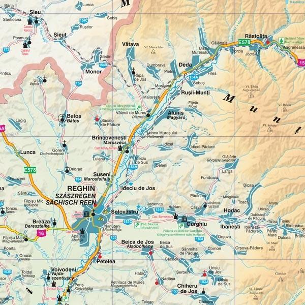 Harta Judetului Mures 70x100 Cm Sipci Plastic Stiefel Romania