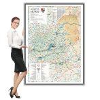 Harta județului Mureș în ramă de aluminiu