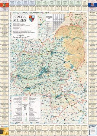 Harta Judetului cu primarii Mures