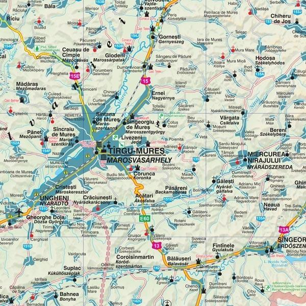 Harta Judetului Cu Primarii Mures Stiefel Romania