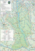 Harta Judetului Olt 70x100 cm sipci plastic