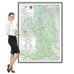 Harta județului Olt în ramă de aluminiu
