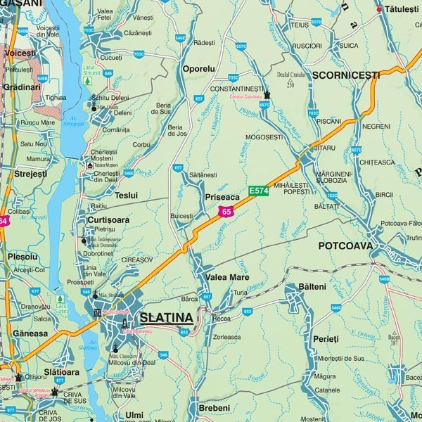 Harta Judetului Olt 70x100 Cm Sipci Lemn Stiefel Romania