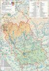 Harta județului Prahova, șipci plastic