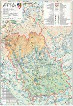 Harta Judetului Prahova 70x100 cm sipci plastic