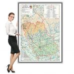 Harta Prahova in rama de aluminiu