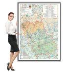 Harta Prahova în ramă de aluminiu