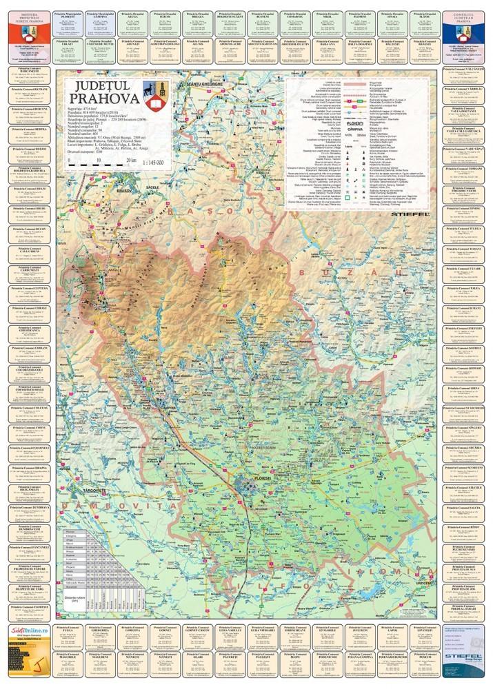 Harta Judetului Cu Primarii Prahova Stiefel Romania
