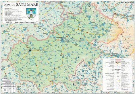 Harta județului Satu Mare, șipci plastic