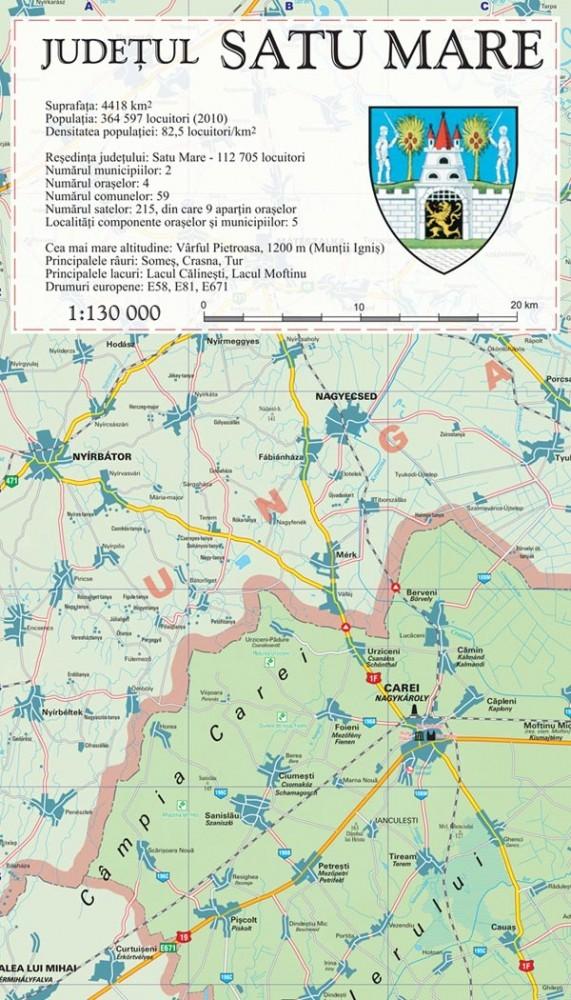 Harta Judetul Satu Mare Harta Sm Romaniaexplorer
