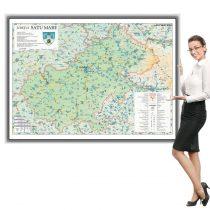 Harta Satu Mare in rama de aluminiu