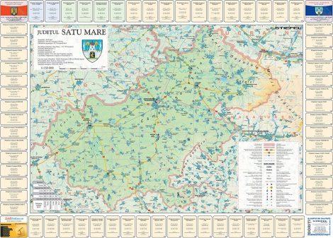 Harta Judetului cu primarii Satu Mare