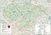 Harta Judetului Salaj 100x70 cm sipci plastic