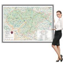 Harta județului Sălaj în ramă de aluminiu