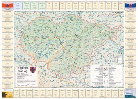 Harta Judetului Salaj cu primarii