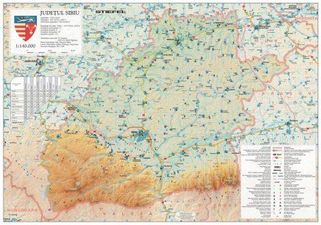 Harta județului Sibiu, șipci plastic