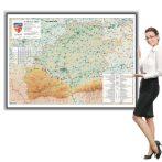 Harta Sibiu în ramă de aluminiu