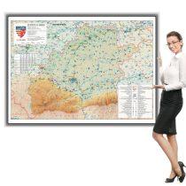 Harta județului Sibiu în ramă de aluminiu