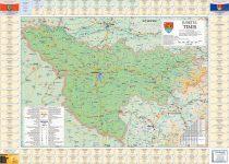 Harta județului Timiș cu primării