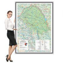 Harta Botoșani în ramă de aluminiu