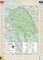 Harta Judetului Botosani cu primarii