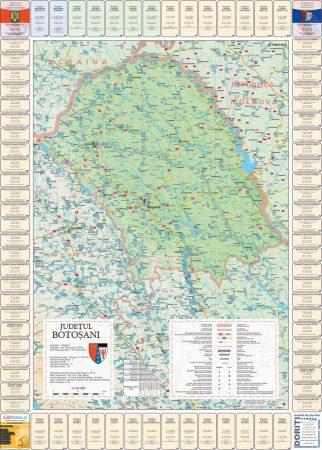 Harta Judetului cu primarii Botosani