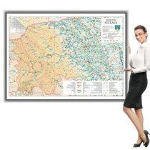 Harta județului Suceava în ramă de aluminiu