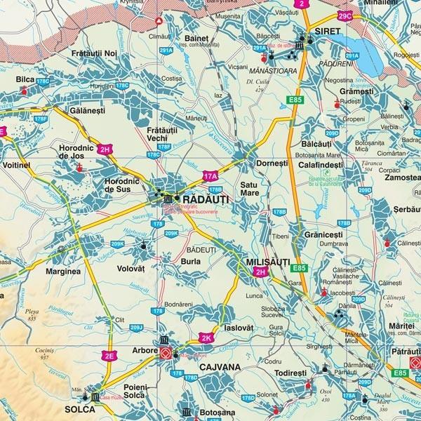 Harta Judetului Cu Primarii Suceava Stiefel Romania