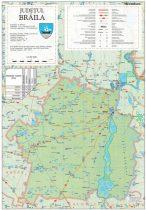 Harta Judetului Braila 70x100 cm sipci plastic