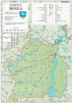 Harta județului Brăila, șipci plastic